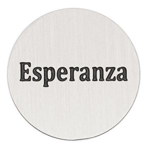 Picture of 'Esperanza' Large Silver Coin